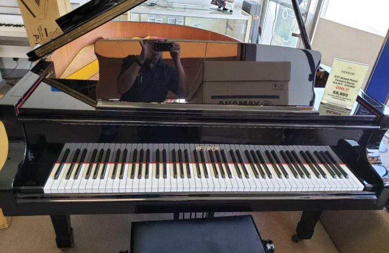 2002 Petrof 5'1 Grand Piano Polished Ebony