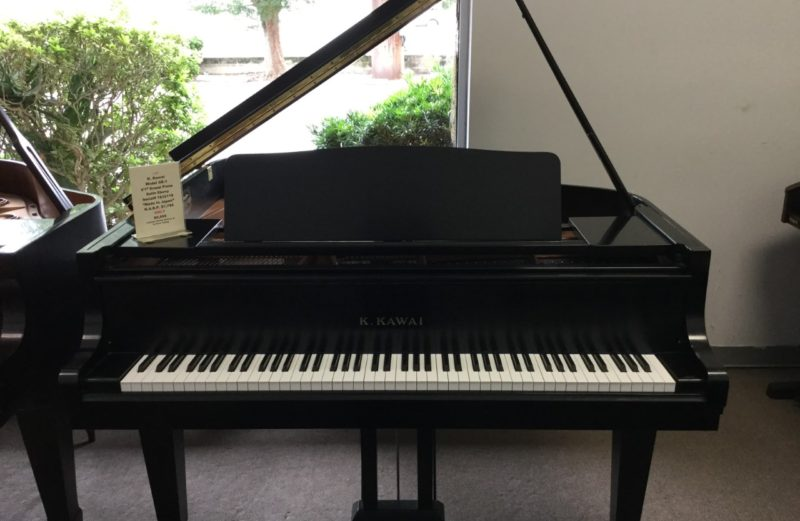 K. Kawai Model GE-1 Satin Ebony 5'1″ Grand Piano 1989 Model